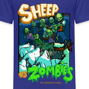 sheep vs zombies Tee shirts - T-shirt Premium Enfant