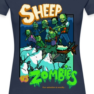 sheep vs zombies T-Shirts - Women's Premium T-Shirt