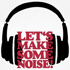 DJ Headphone Let's make some noise Red T-shirts - Vrouwen T-shirt