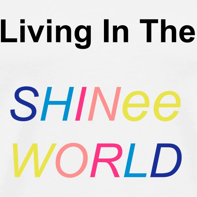 """T-shirt male """"Living In The SHINee World"""""""