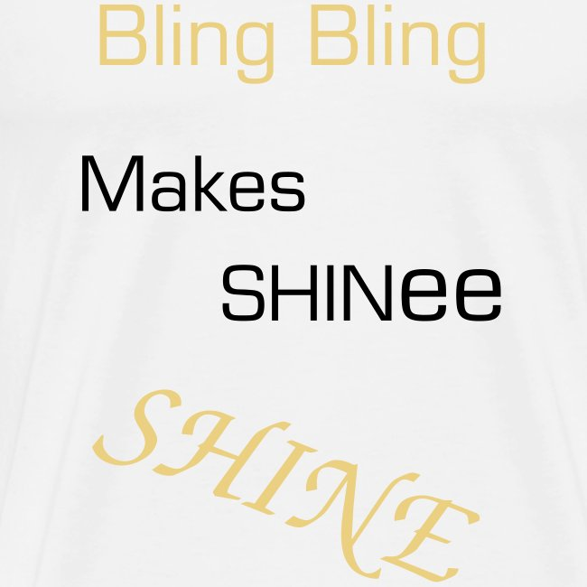 "T-shirt male ""Bling Bling Makes SHINee Shine"""