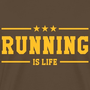 Running is life ! T-skjorter - Premium T-skjorte for menn