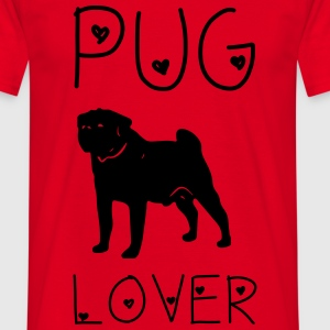 Pug Lover T-shirts - Herre-T-shirt