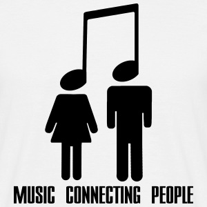 Music Connecting People T-shirts - Herre-T-shirt