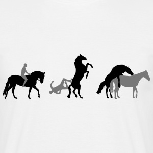 Horse Transport Evolution  T-Shirts - Men's T-Shirt