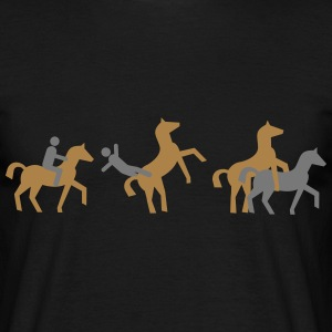 Horse Transport retro evolution  T-Shirts - Men's T-Shirt