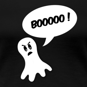 boo ghost all white T-shirts - Dame premium T-shirt