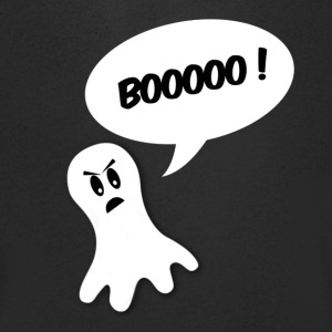 boo ghost all white T-shirts - Mannen T-shirt met V-hals