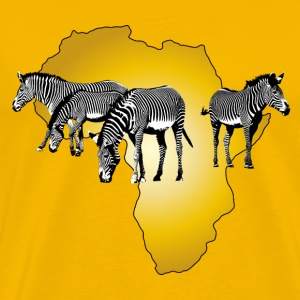The Spirit of Africa Zebras Afrika Adventure T-Shirts - Männer Premium T-Shirt