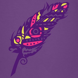 A patterned feather Shirts - Teenage Premium T-Shirt