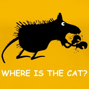 Where is the cat? - Frauen Premium T-Shirt