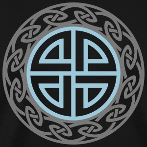 Celtic Shield Knot, Protection, Four Corner, Norse Koszulki - Koszulka męska Premium