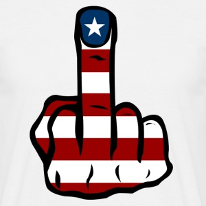 Middle finger USA T-Shirts - Men's T-Shirt