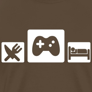 Eat Game Sleep Camisetas - Camiseta premium hombre