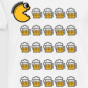 Beer Drinking Punk (2C) T-Shirts - Men's Premium T-Shirt
