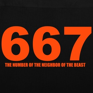 667 - The Number of the Neighbor of the Beast- Sto - Stoffbeutel