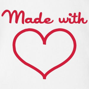 Made with love T-Shirts - Baby Bio-Kurzarm-Body