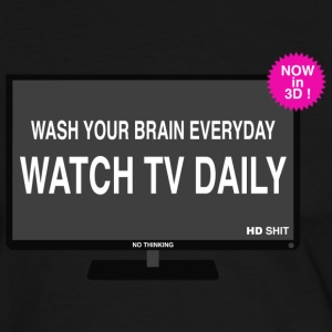 Wash your brain everyday T-Shirts - Men's Ringer Shirt