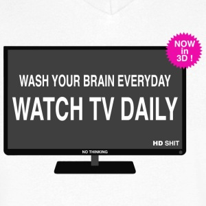 Wash your brain everyday T-Shirts - Men's V-Neck T-Shirt