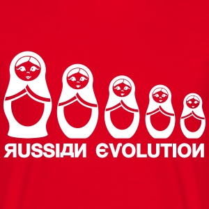 Russiske Matryoshka Evolution  T-skjorter - T-skjorte for menn