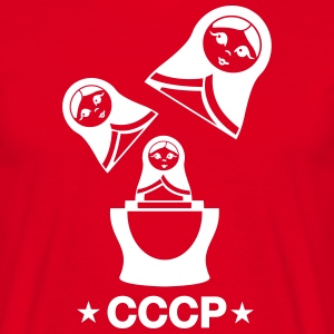 CCCP Russian Matryoshka  T-Shirts - Men's T-Shirt