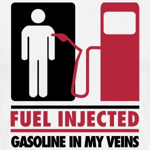 Fuel injected, gasoline in my veins T-shirts - Mannen Premium T-shirt