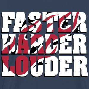 Faster, Harder, Louder T-shirts - Mannen Premium T-shirt