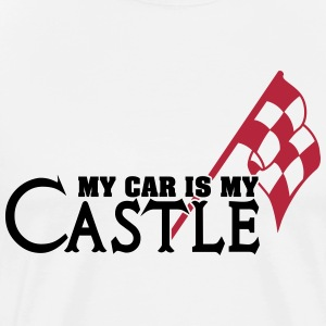My car is my castle T-shirts - Mannen Premium T-shirt