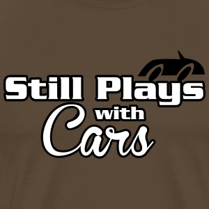 Still plays with cars T-shirts - Premium-T-shirt herr