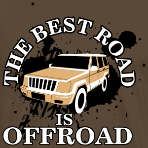 The best road is offroad T-shirts - Mannen Premium T-shirt