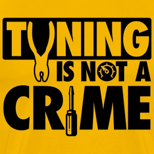 Tuning is not a crime T-shirts - Herre premium T-shirt