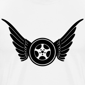 Wheel with wings T-shirts - Mannen Premium T-shirt
