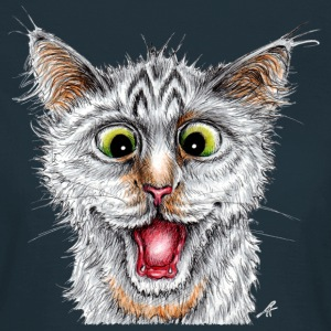 Happy Cat - Dame-T-shirt