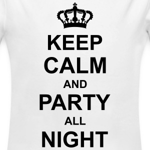 keep_calm_and_party_all_night_g1 Sudaderas - Body orgánico de manga larga para bebé