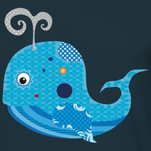 A blue whale with blow T-Shirts - Men's T-Shirt