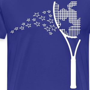 tennis racket T-skjorter - Premium T-skjorte for menn