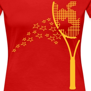 tennis racket T-Shirts - Women's Premium T-Shirt