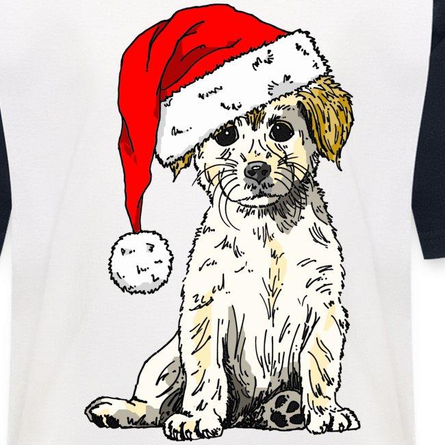 Christmas Doggy Baseball Tee