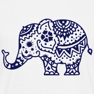 a decorated Indian elephant T-Shirts - Men's T-Shirt
