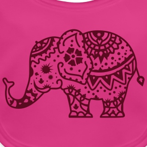 a decorated Indian elephant Accessories - Baby Organic Bib