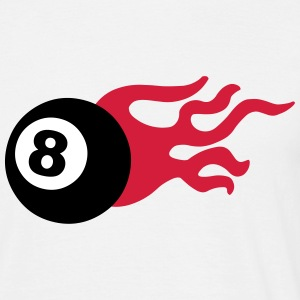Eight Ball and Fire T-Shirts - Men's T-Shirt