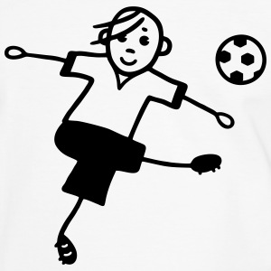 Soccer player with football T-Shirts - Men's Ringer Shirt