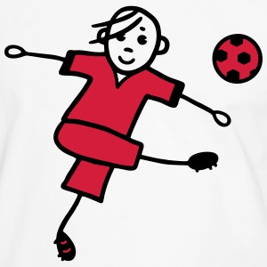 Soccer player with ball - V2 T-Shirts - Men's Ringer Shirt