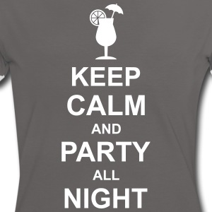 keep_calm_and_party_all_night_2_g1 Magliette - Maglietta Contrast da donna