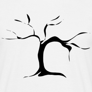 Branched tree - black T-Shirts - Men's T-Shirt