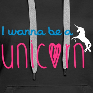 Unicorn Sweat-shirts - Sweat-shirt à capuche Premium pour femmes