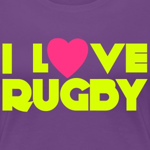 I Love Rugby T-Shirts - Women's Premium T-Shirt