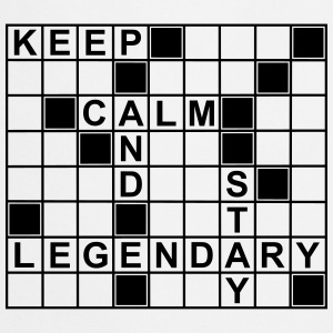 keep_calm_stay_legendary_g1 Delantales - Delantal de cocina