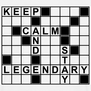 keep_calm_stay_legendary_g1 T-skjorter - T-skjorte for menn