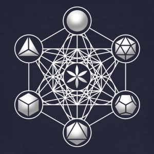 Metatrons Cube, Platonic Solids, Sacred Geometry T-Shirts - Men's Organic T-shirt